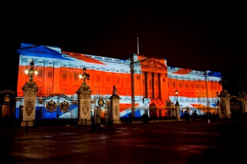 Sanggun Kim: Face Britain (2012), Buckingham palace, London, 3D Project Mapping work