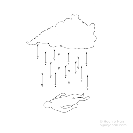 When it rains my body aches. / 비가오면 삭신이 쑤신다. / 2016