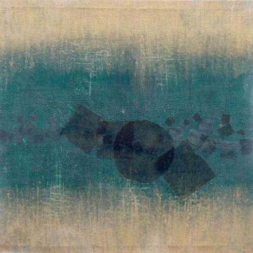 Francesca Cho: Gold Light, 2000. Oil & mixed media on canvas, 52x52cm