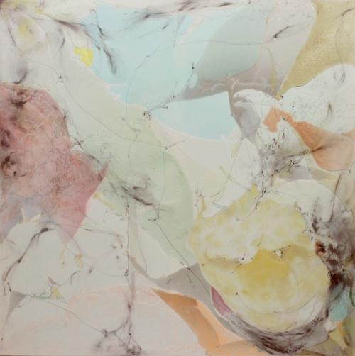 Joohee Chun: Miracle (2011). Acrylic on Canvas 125 x 125 cm