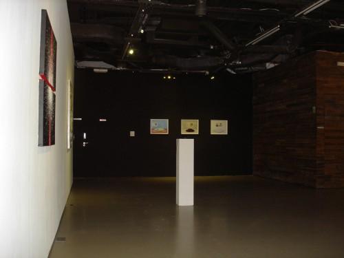 Exhibition View: Moon Jeong Min (Left), Joo Hee Chun + Jee Soo Shin (Far left, Middle), Miso Park (Far middle)